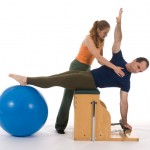 Jennifer Stacey with Alex Siragusa. Twist on Chair with Ball.