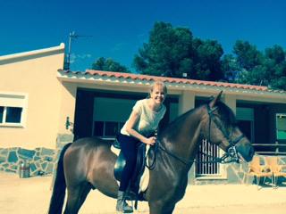 Melanie loves horse riding