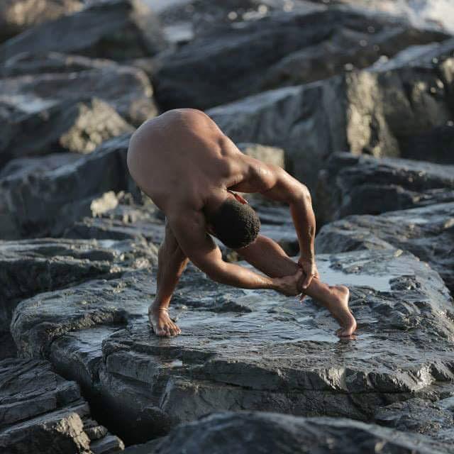 Walid stretching