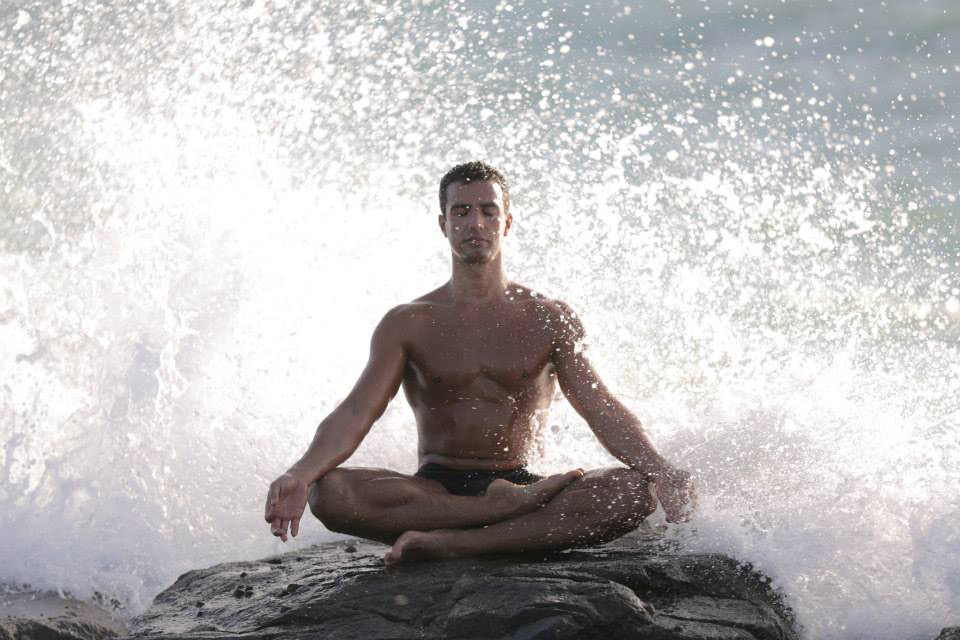 Walid meditating