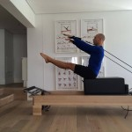 Pilates focuses on developing the powerhouse and flexibility of the spine.